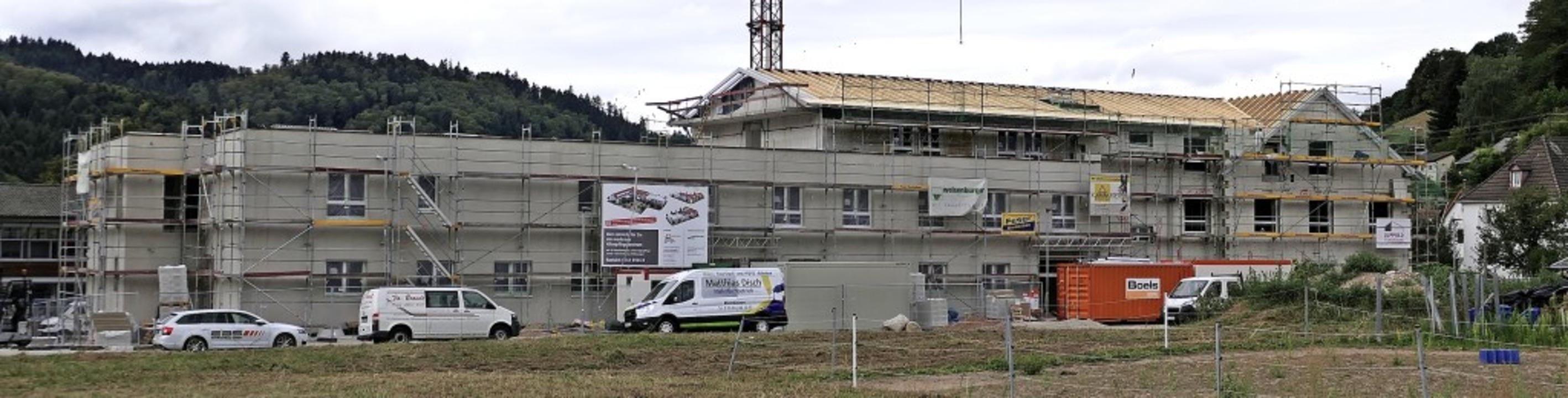 Derzeit wichtigstes Neubauprojekt:  Ca...smitte   neben der Abt-Columban-Schule  | Foto: Hans-Peter Müller