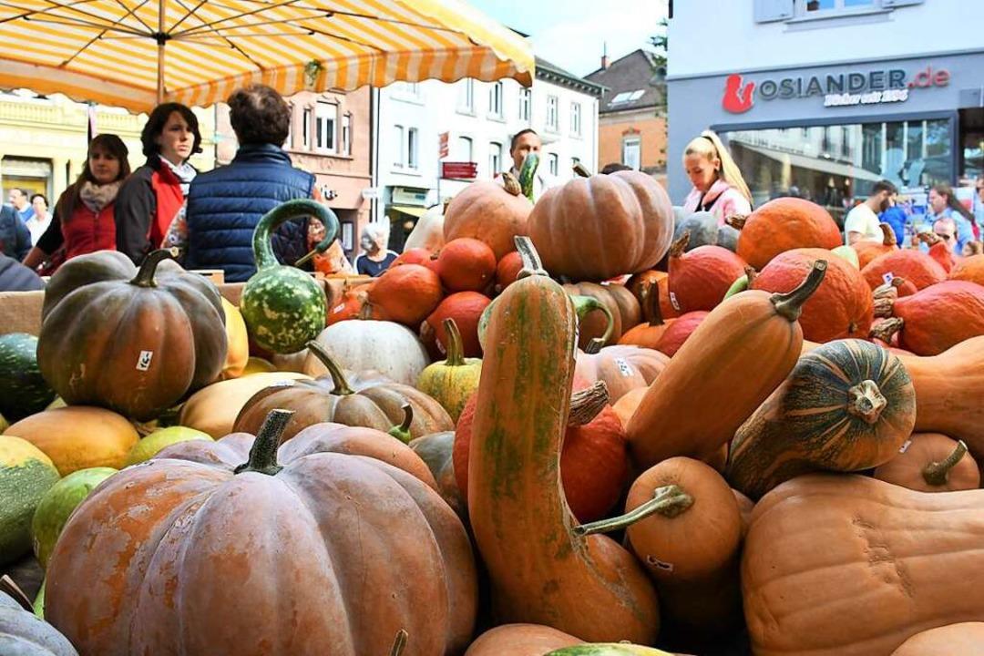Das Herbstfest von Pro Lörrach fällt a...ck soll es in der Stadt dennoch geben.  | Foto: Barbara Ruda