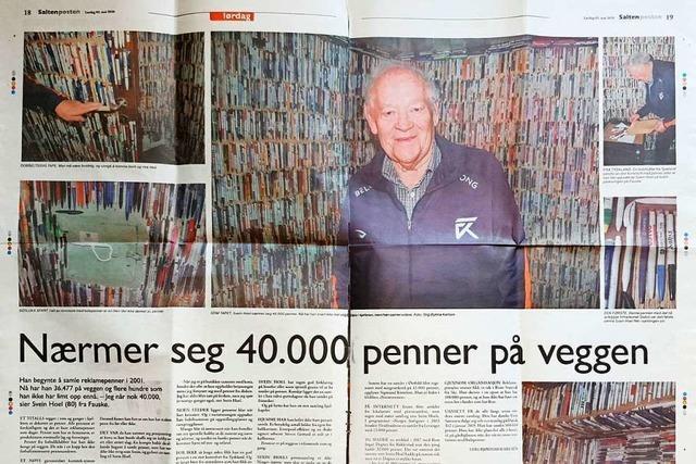 Ein Norweger sammelt Kulis – auch mit Hilfe vom Hochrhein