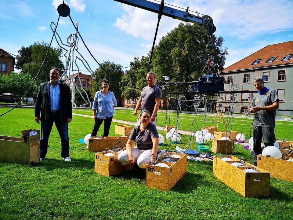 Sie lassen das Heaven's Carousel...m Seidler, und Ingenieur Michael Reyl.  | Foto: Ralf Burgmaier