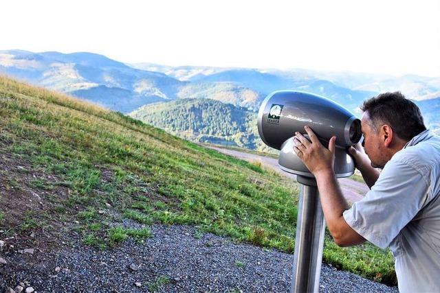 Auf dem Ittenschwander Horn bei Fröhnd steht nun ein Viscope-Fernrohr