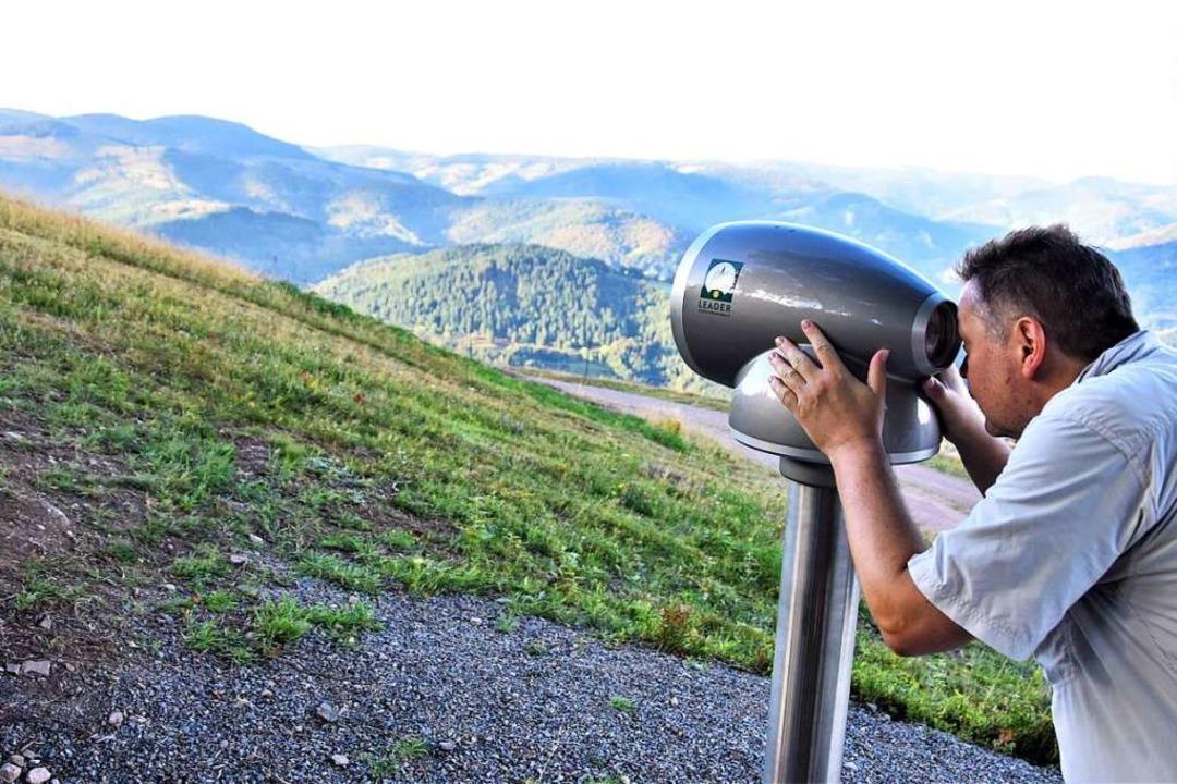 Infos zu den Aussichten: Das Viscope am Ittenschwander Horn  | Foto: Angelika Schmidt