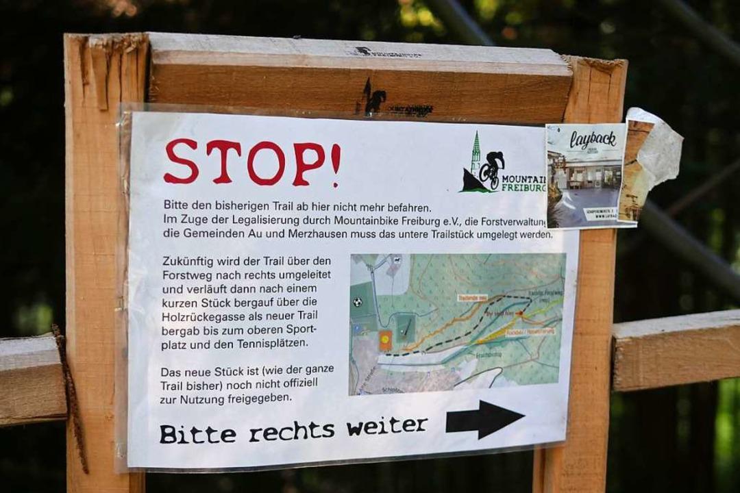 Seit der Legalisierung des Trails führ...ück nicht mehr durch ein Feuchtbiotop.  | Foto: Jannik Jürgens