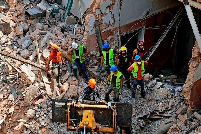 Ein Monat nach Explosion in Beirut: Atemgeräusche unter Trümmern geortet