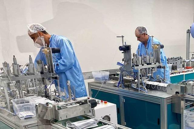 Schopfheimer Firma produziert wöchentlich 400.000 Schutzmasken