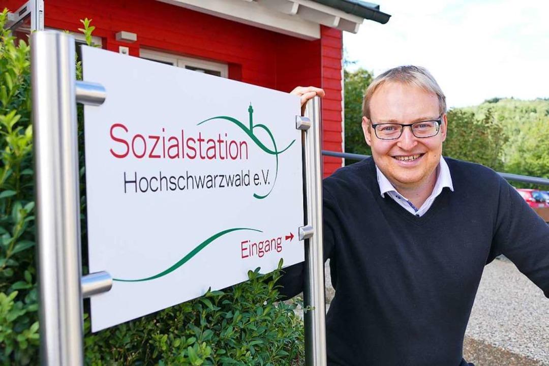 Felix Vogelbacher, Geschäftsführer der Sozialstation Hochschwarzwald    Foto: Tanja Bury