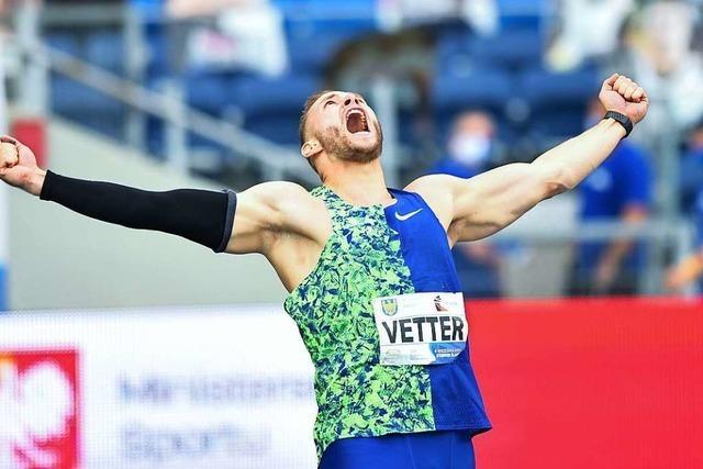 Der Offenburger Johannes Vetter kratzt am Speerwurf-Weltrekord – 97,76 Meter