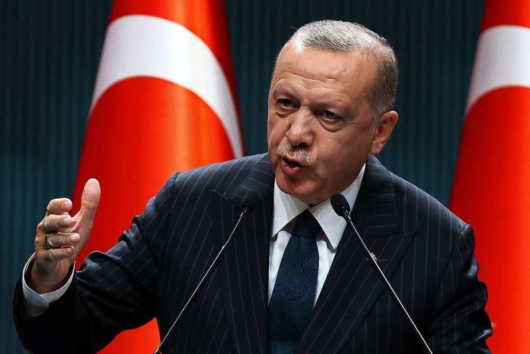 Recep Tayyip Erdogan, hier bei einer Rede am 24. August.  | Foto: ADEM ALTAN (AFP)