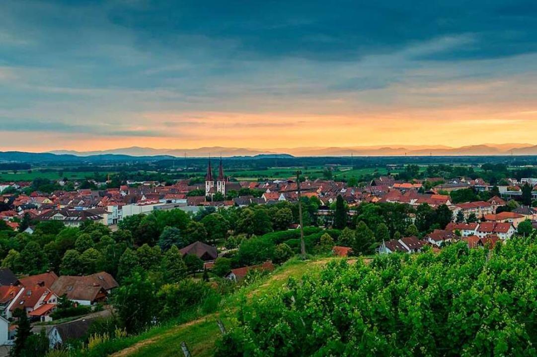 Blick über Kenzingen – aufgenommen von BZ-Leser Hans-Jürgen van Akkeren.  | Foto: Hans-Jürgen van Akkeren