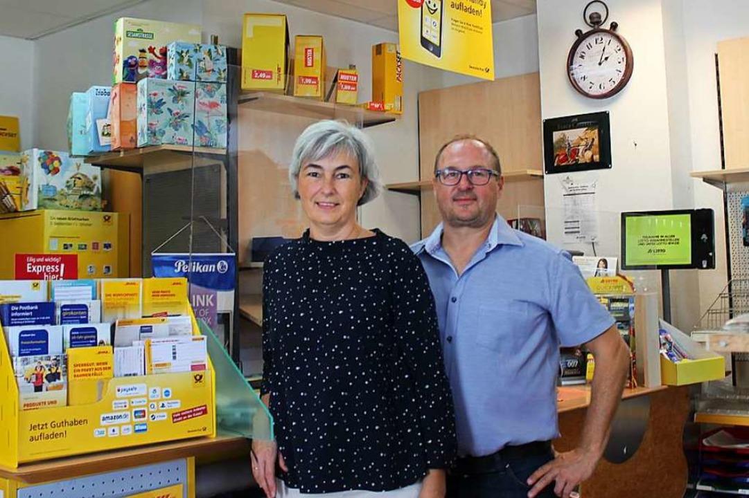 Susanne und Jochen Schladebach von der Goldmine verabschieden sich.    Foto: Jennifer Ruh