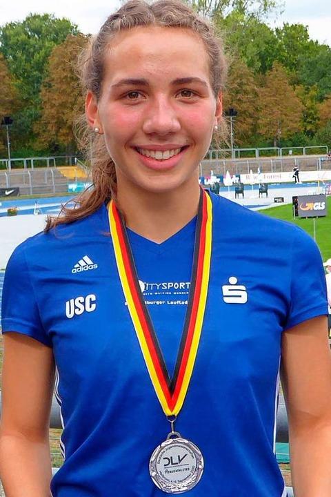 Nach Gold 2019 nun Silber für die Freiburger Gymnasiastin Valerie Koppler  | Foto: Privat