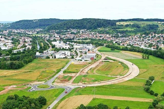 Rundgang über das Gelände des künftigen Kreisklinikums in Lörrach