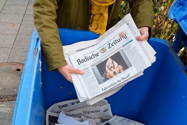 Die Papierentsorgung im Landkreis Lörrach sorgt weiter für Unmut