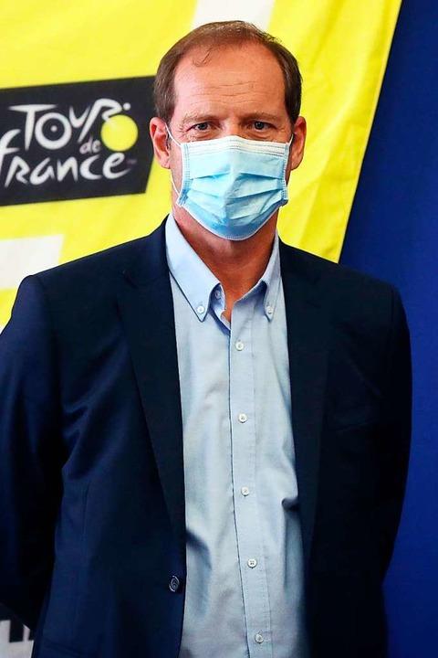 Tour-Patron Christian Prudhomme    Foto: VALERY HACHE (AFP)