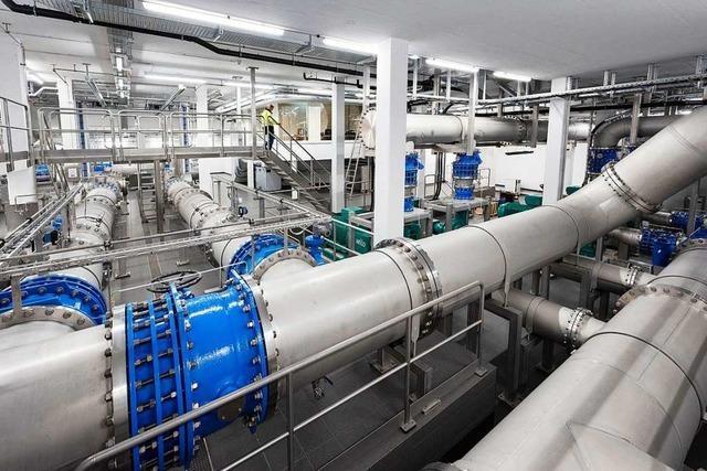 Eine neue Pumpstation in den Langen Erlen versorgt Basel mit Wasser