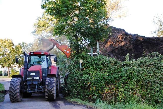 Holzhaufen in March muss nach Bränden abgetragen werden
