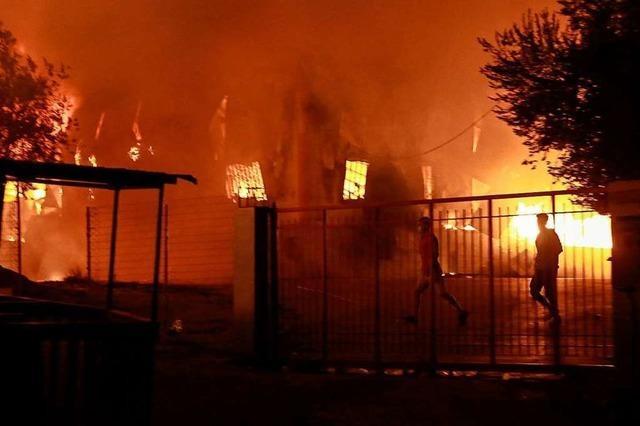 Fotos: Großbrand zerstört Flüchtlingslager Moria auf Lesbos