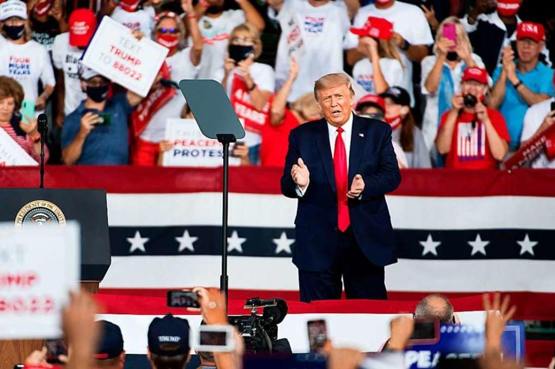 Donald Trump, hier auf einer Wahlkampfveranstaltung am 8. September.    Foto: Sean Rayford (AFP)