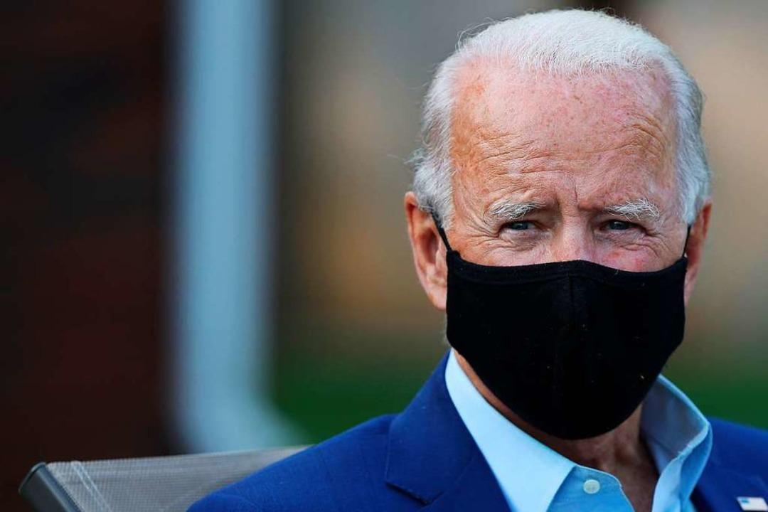 """""""Er wusste, wie tödlich es ist u... sagt Joe Biden über Trumps Verhalten.    Foto: CHIP SOMODEVILLA (AFP)"""