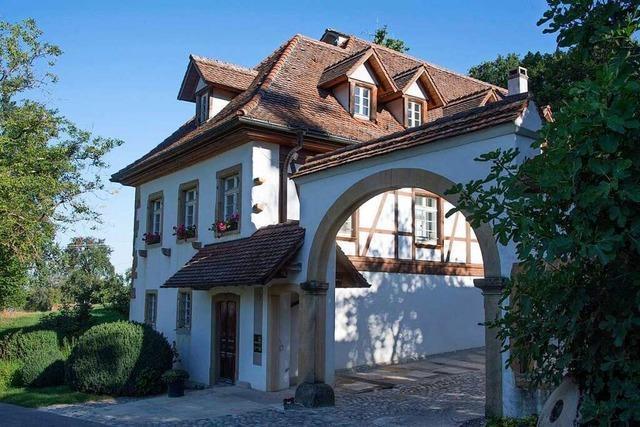 Eine alte Getreidemühle schmückt das Dorf Güttigheim