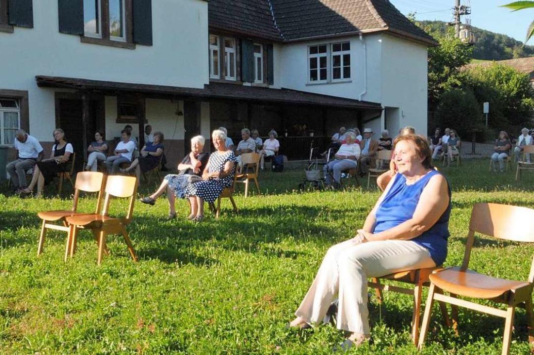 Konzertgenuss mit Abstand – auch...in Zeiten von Corona gewöhnen mussten.    Foto: Regine Ounas-Kräusel