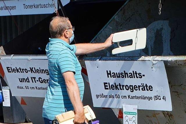 Die Bürger sollen helfen, die Staus an den Recyclinghöfen zu minimieren