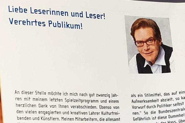 Umstrittener Beitrag des Lahrer Kulturamtschefs im Kulturprogramm