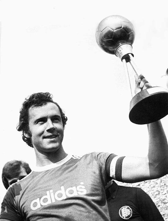 Franz Beckenbauer, Fußballer des Jahres  1976    Foto: Hamberger (dpa)