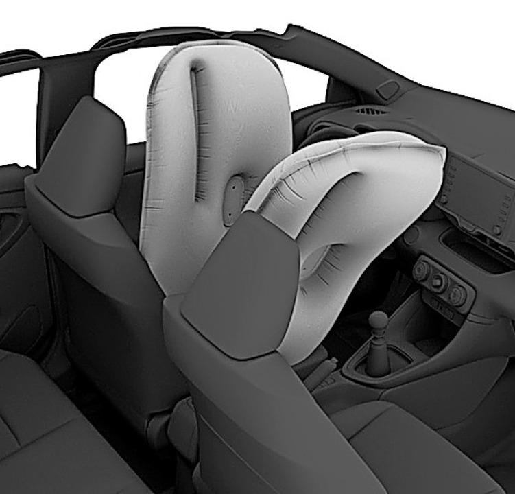 Noch sicherer: Toyota etwa führt den Center-Airbag ein.  | Foto: Toyota