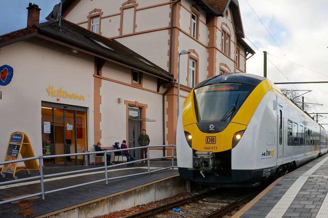 Zwischen Gottenheim und Endingen fiele... und Donnerstag Züge aus (Archivbild).  | Foto: Martin Wendel