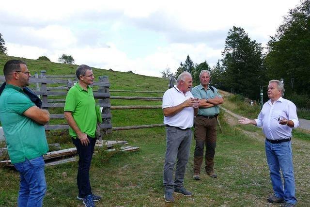 Umweltminister Franz Untersteller startete seine Biodiversitätstour im Kleinen Wiesental