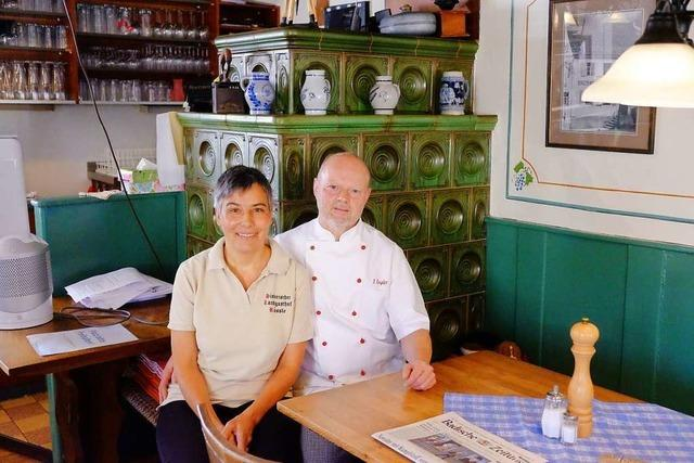 Seit 25 Jahren sind Cornelia und Thomas Engler die Wirte im Hertinger Rössle