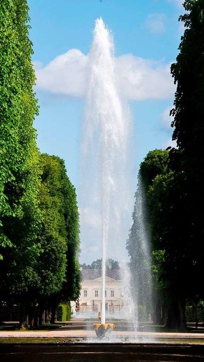 Die Große Fontäne in den Herrenhäuser Gärten  | Foto: Julian Stratenschulte (dpa)