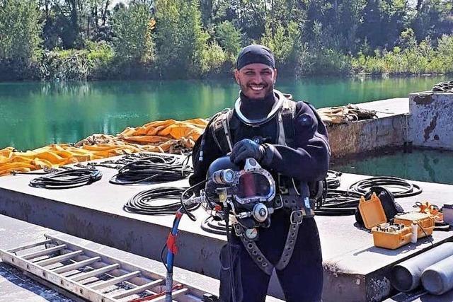 Ehsan Kheradmandan hat schon 70 Meter tief unter Wasser gearbeitet