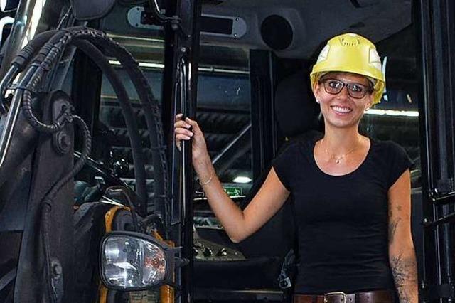 Viktoria Saretz liebt ihren Job zwischen Kohle, schweren Maschinen und Industrieöfen