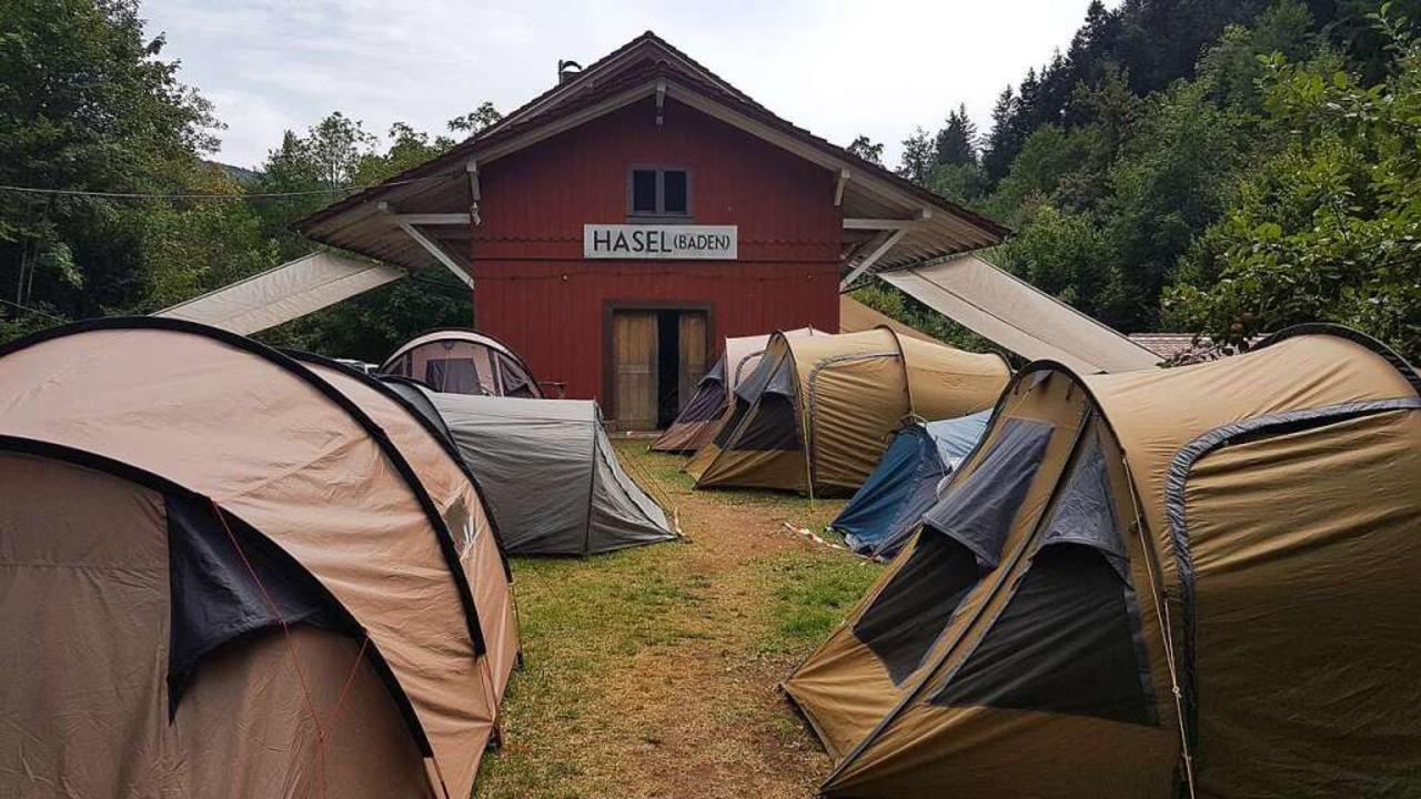 Am Hasler Bahnhof finden regelmäßig Jugendzeltlager statt.  | Foto: Gerald Nill