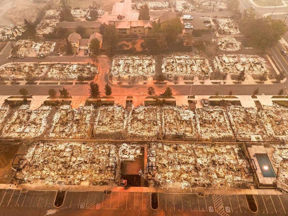 In Talent, Oregon, wurden Hunderte Häuser Opfer der Flammen.    Foto: David Ryder (AFP)