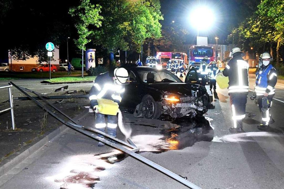 Unfall beim Friedrich-Ebert-Platz in Lahr    Foto: Wolfgang Künstle