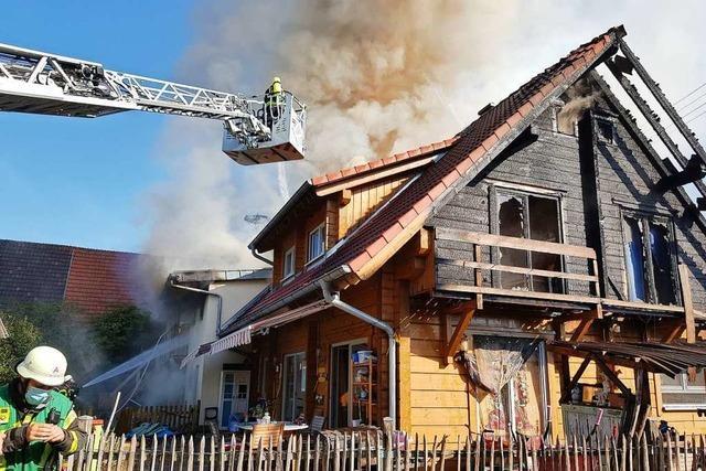 Doppelhaus in Schutterwald-Langhurst durch Feuer komplett zerstört