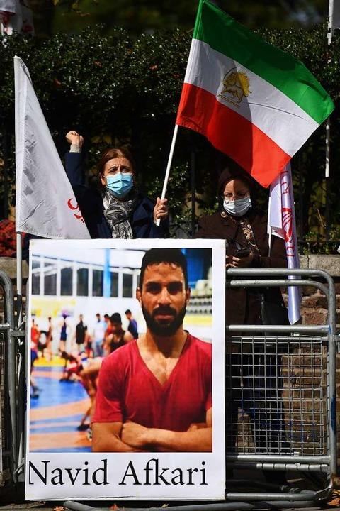 Der Protest gegen die Hinrichtung von Navid Afkari war erfolglos.  | Foto: JUSTIN TALLIS (AFP)