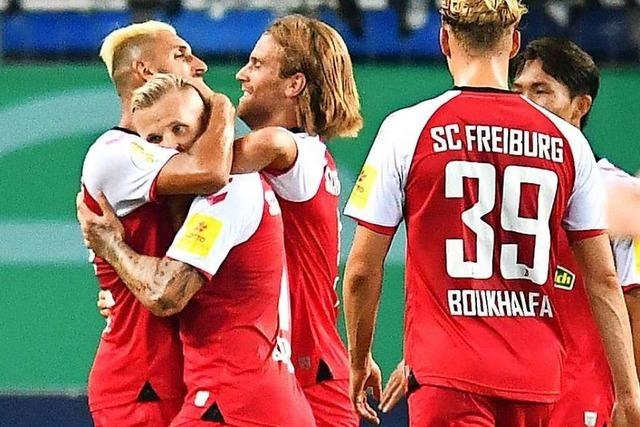 Fotos: SC Freiburg ringt im DFB-Pokal hartnäckige Mannheimer nieder