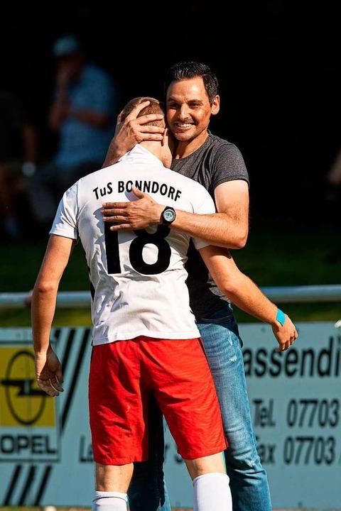 TuS-Trainer Björn Schlageter wechselte...Tages für Bonndorf gegen Obereschach.   | Foto: Wolfgang Scheu