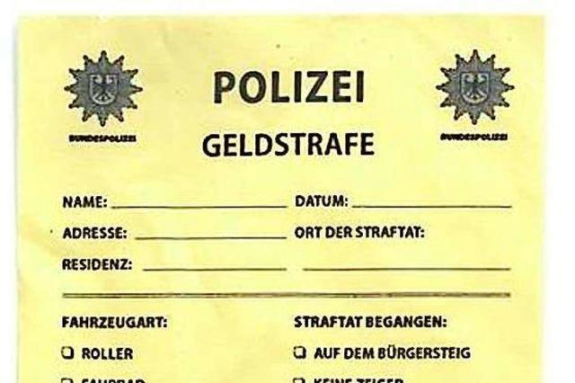 Frau will gefälschten 280-Euro-Strafzettel bei der Bundespolizei bezahlen