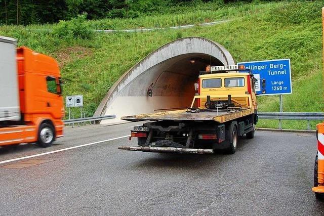 Kurzschluss löst Kabelbrand im Nollinger Bergtunnel aus