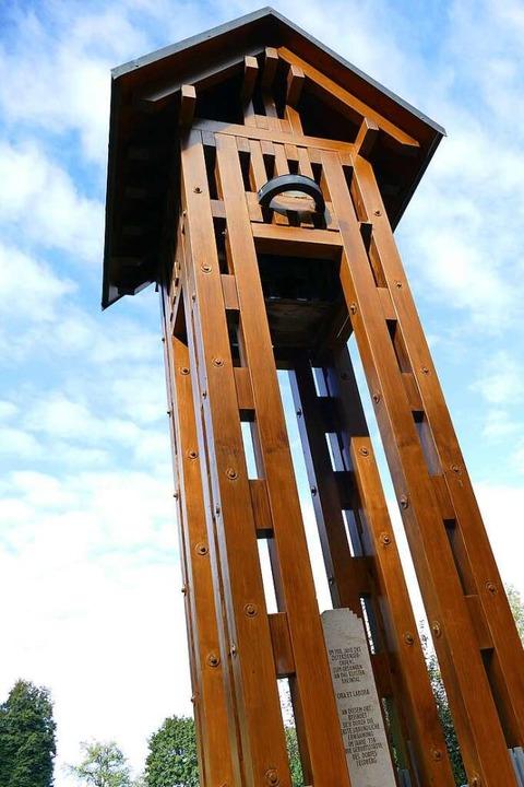 Der Glockenturm erinnert an das frühere Kloster Rheintal.    Foto: Susanne Ehmann