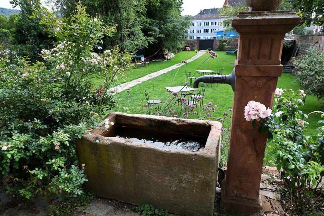 Grünes Idyll mitten in der Stadt – der Garten des Palais    Foto: Christoph Breithaupt