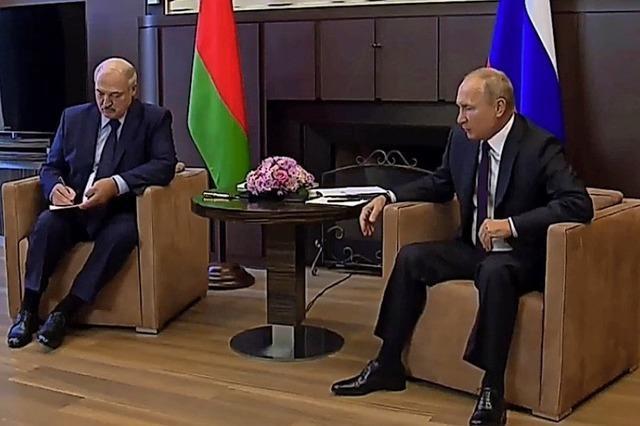 Putin und Lukaschenko sind sich einig
