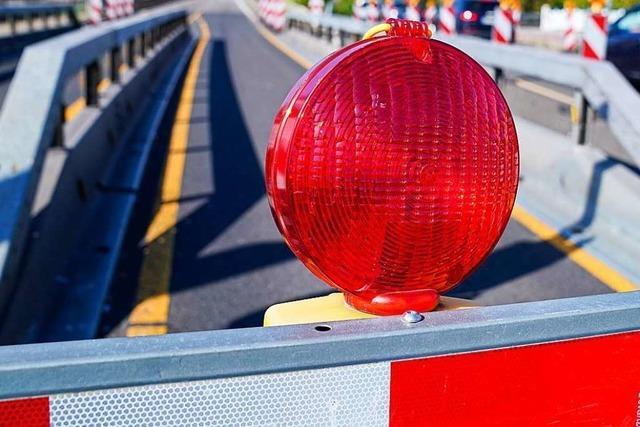 B317 zwischen Lörrach-Mitte und Entenbad am Wochenende und nachts gesperrt