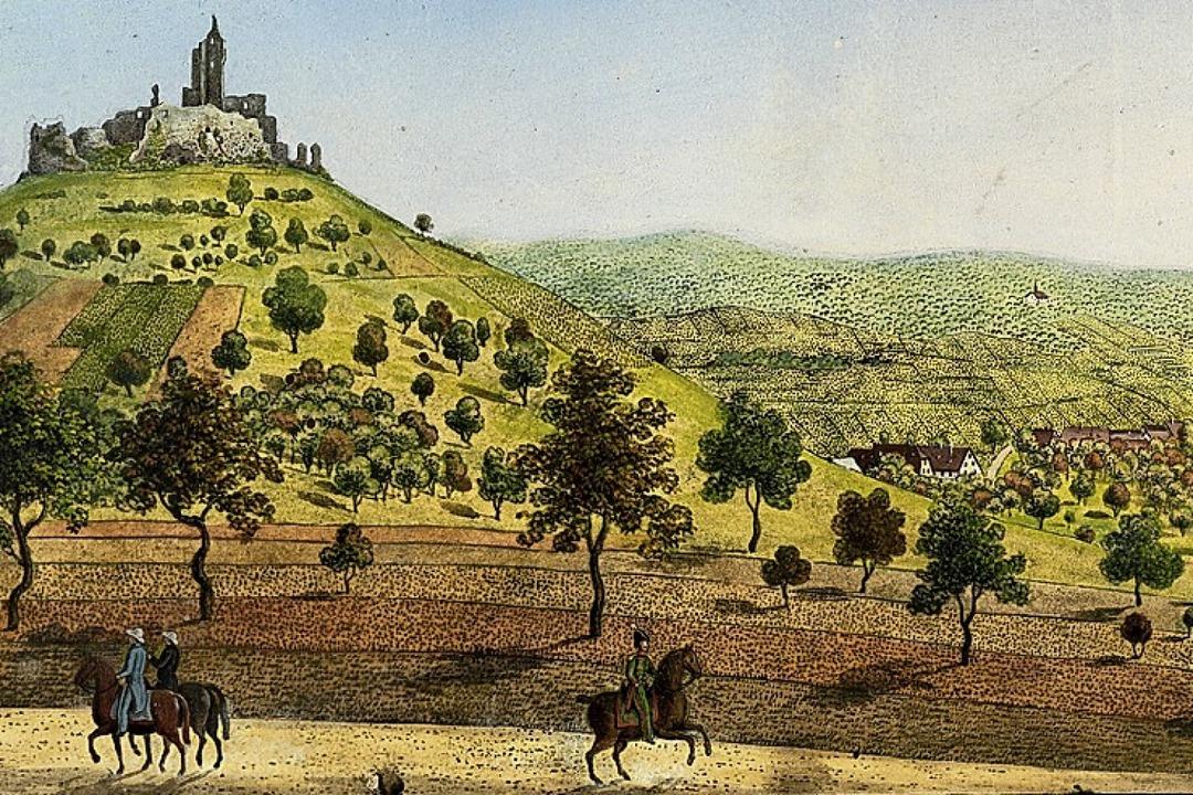 Im Stadtarchiv finden sich zahlreiche ...ache von Johann Martin Morat, um 1845.  | Foto: Axel Killian (Augustinermuseum Freiburg)
