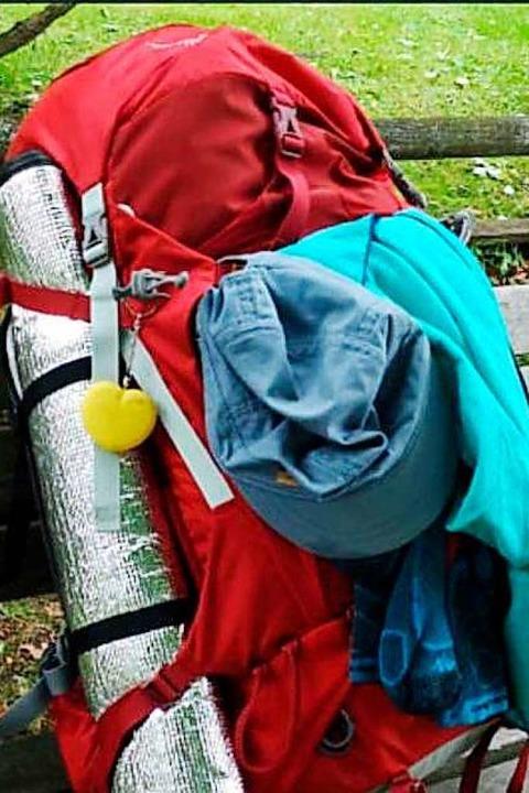 Diesen Rucksack hat die Wanderin dabei.    Foto: Polizei